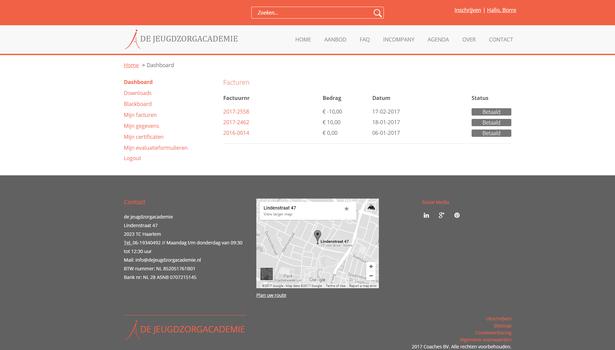 De Jeugdzorgacademie klant account software