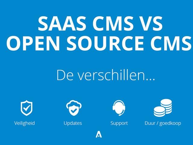 Tien vergelijking tussen een Open source CMS en een SAAS CMS